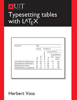 Typesetting Tables With Latex By Voss, Herbert